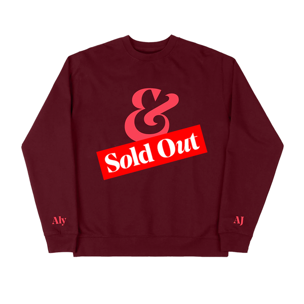 AMPERSAND MAROON PULLOVER