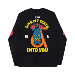 Sink My Teeth Black Long Sleeve Tee