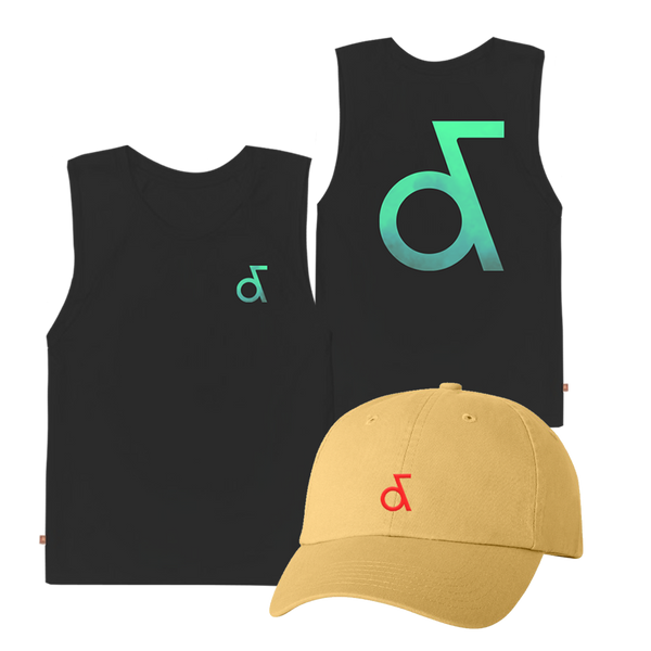 Aly & AJ Black Tank & Hat Bundle