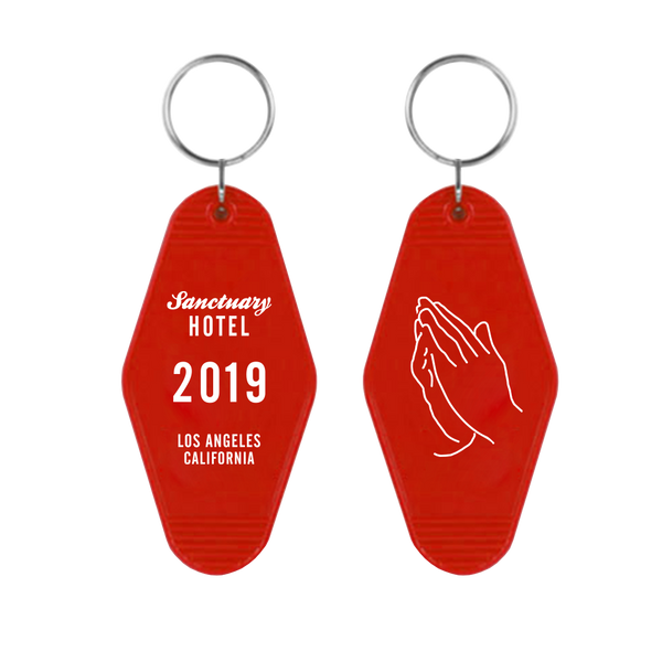 RED MOTEL KEYCHAIN