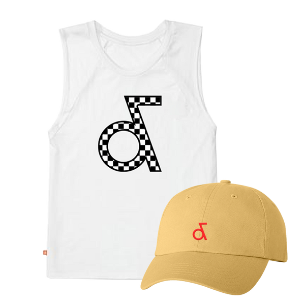 Aly & AJ White Tank & Hat Bundle