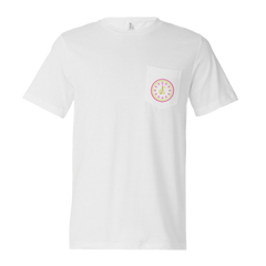 UP ALL NIGHT WHITE POCKET TEE