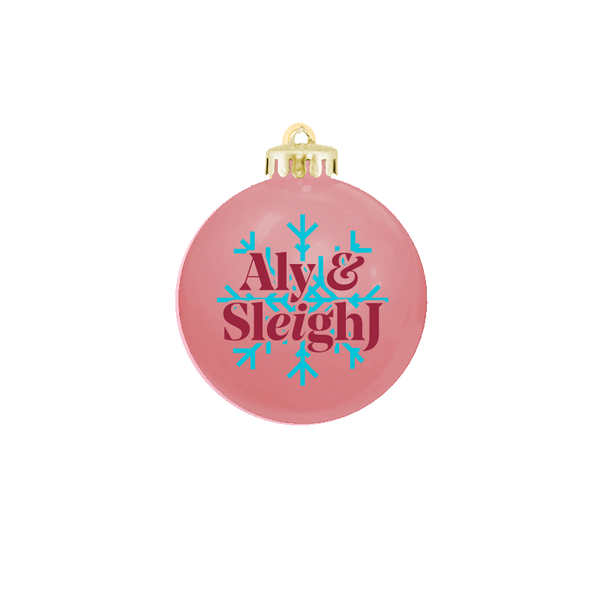 ALY AND AJ 'SLEIGHJ SNOWFLAKE' PINK ORNAMENT