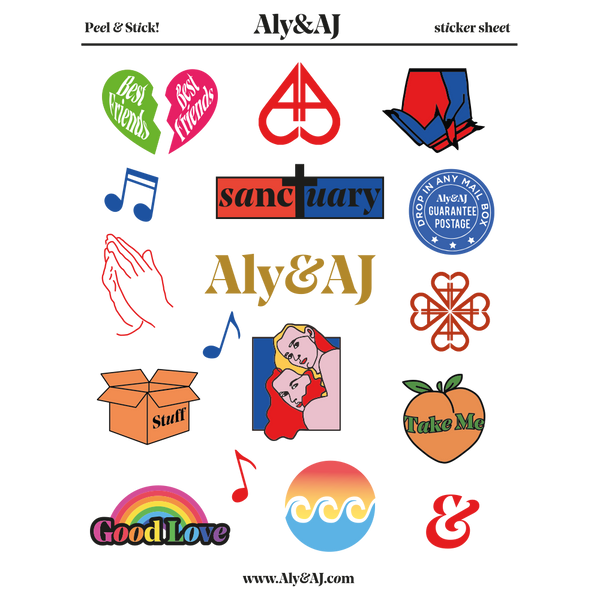 Aly & AJ Sticker Sheet