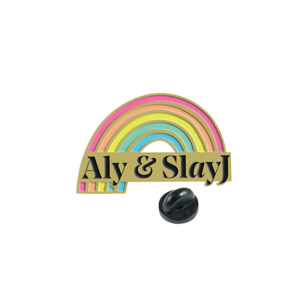 ALY & SLAYJ ENAMEL PIN