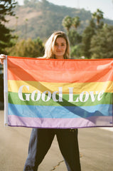 GOOD LOVE PRIDE FLAG
