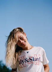 Aly & SlayJ Overprint White Tee