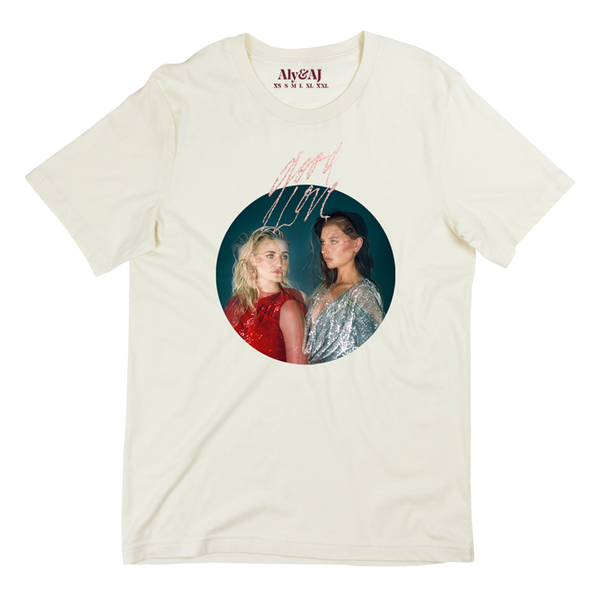 Good Love Pink Sparkle Single Photo Ivory Tee