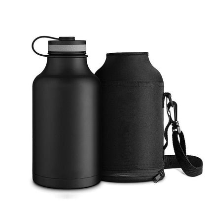 80205b2fe3 Stainless Steel Outdoor Water Bottle With Bag 1800ml