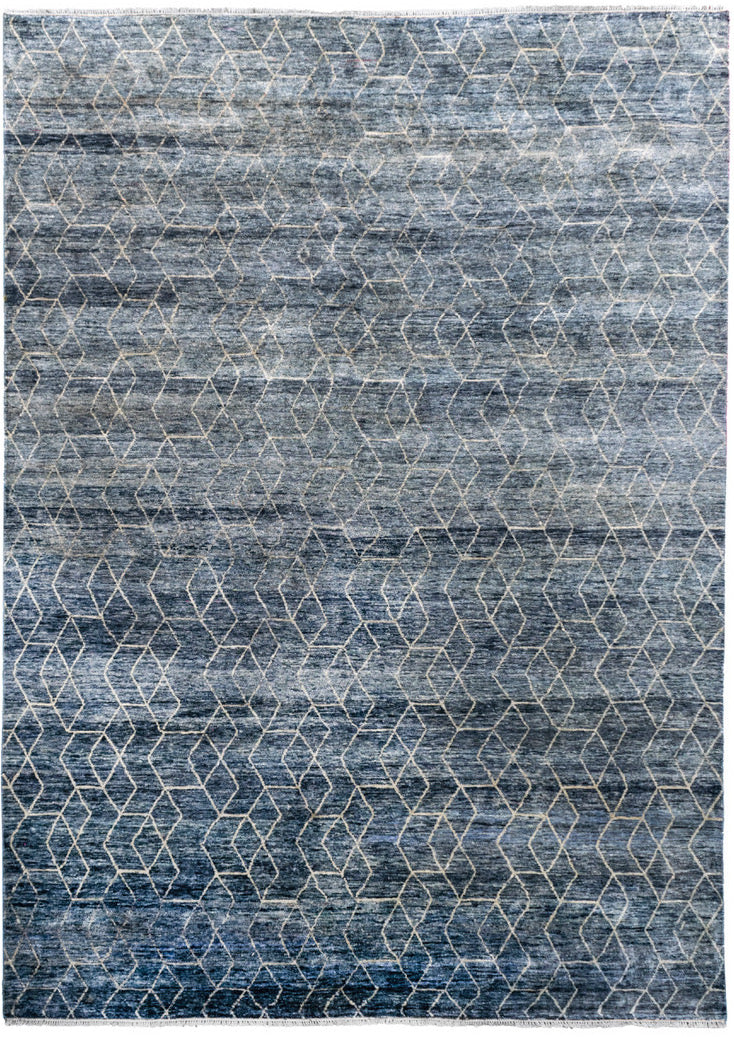 Blue Sari Silk Hex - In Stock