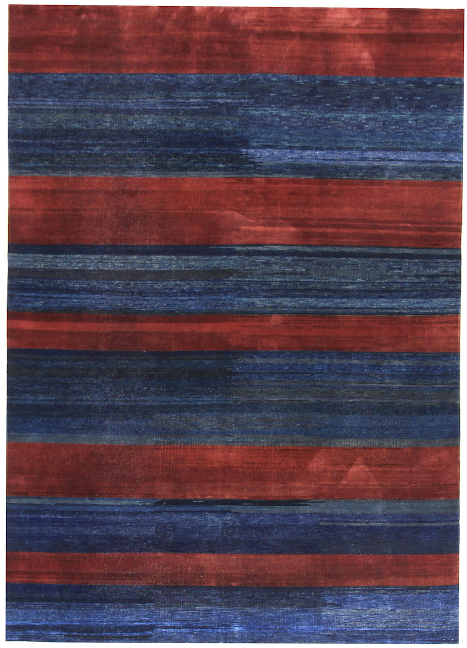 Indigo & Pomegranate Stripe - In Stock