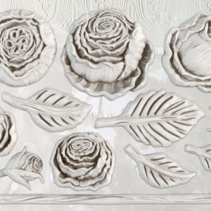IOD Heirloom Roses 6x10 Decor Moulds