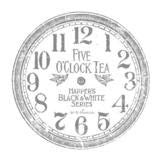 12 Inch Clock decor transfer, in charcoal lettering
