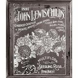'John Lewis Childs' decor transfer, 11x14 white lettering