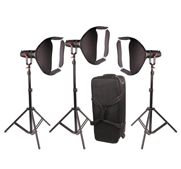 Boltzen 55w Fresnel Focusable LED Light Kit