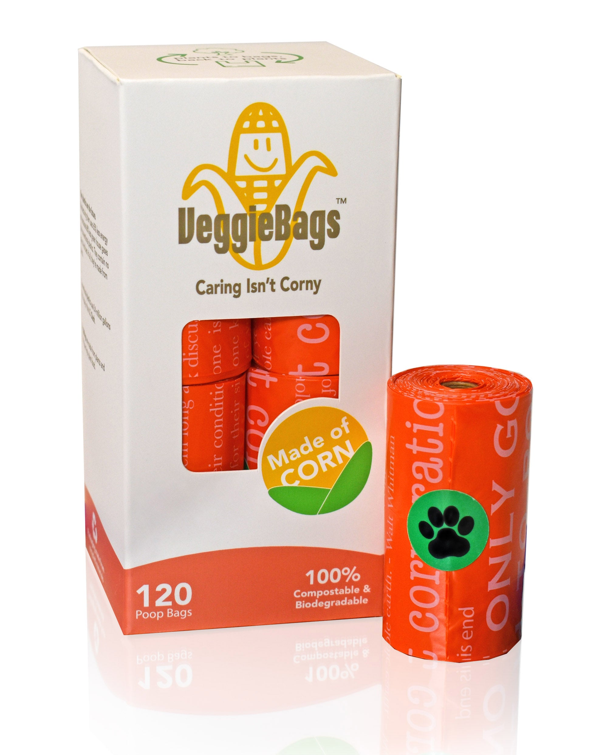 VeggieBags - 100% Compostable and Biodegradable Poop Bags
