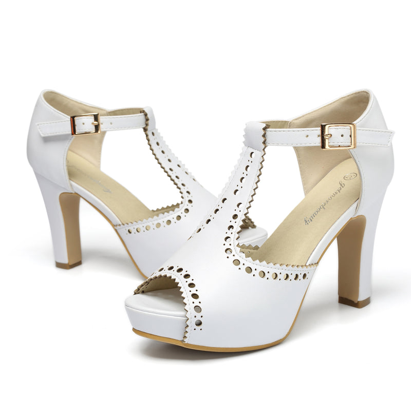 Strap Block Heel Sandals -Retro Style  | Getmorebeauty