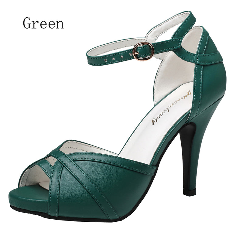 Open Toe Buckle High Heel Sandals | Getmorebeauty