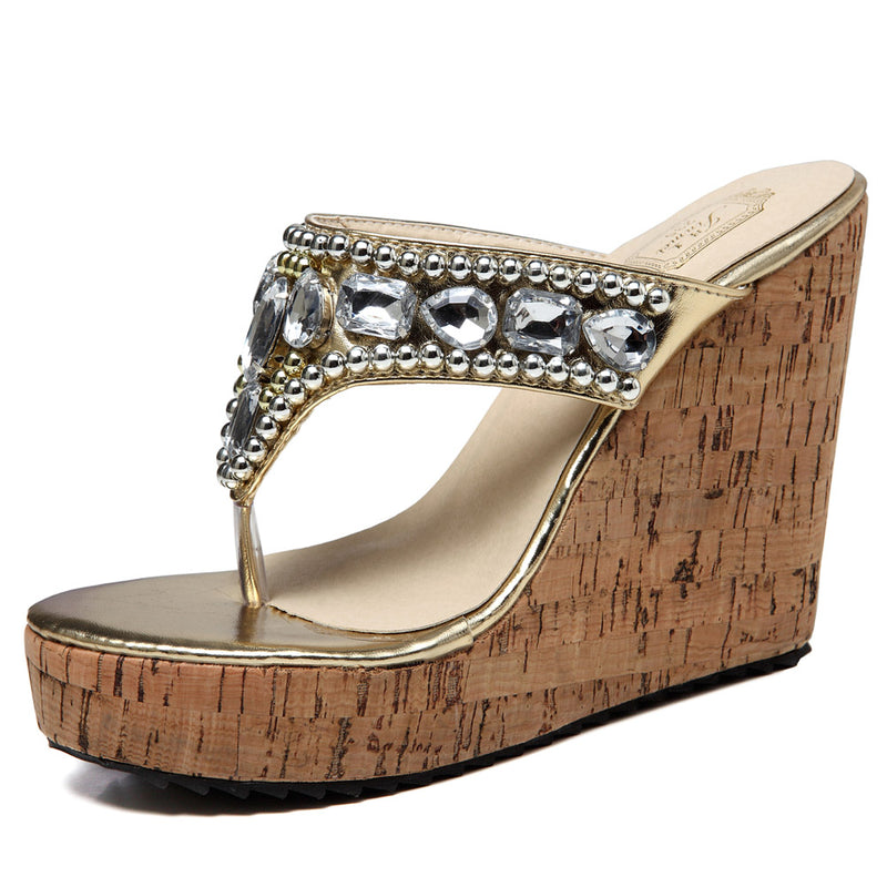 Weave Flip Flop Platform Wedge Sandals | Getmorebeauty