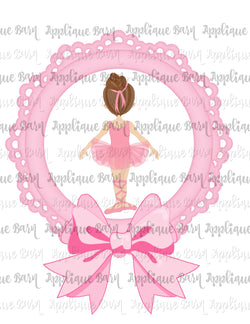 Ballerina Sublimation Frame- Brunette
