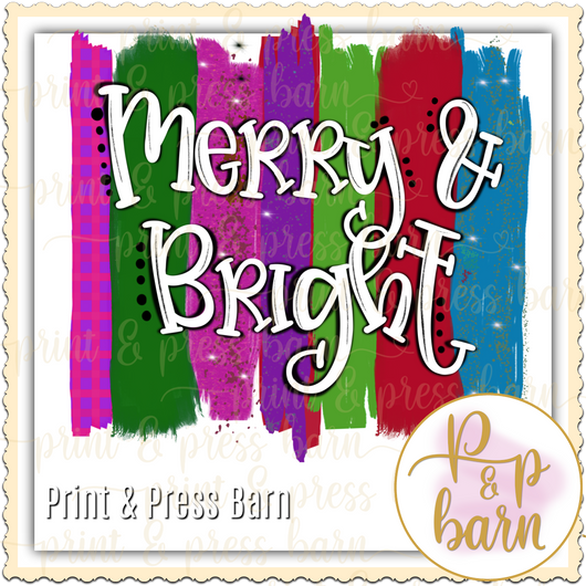 Merry and Bright Brushstroke
