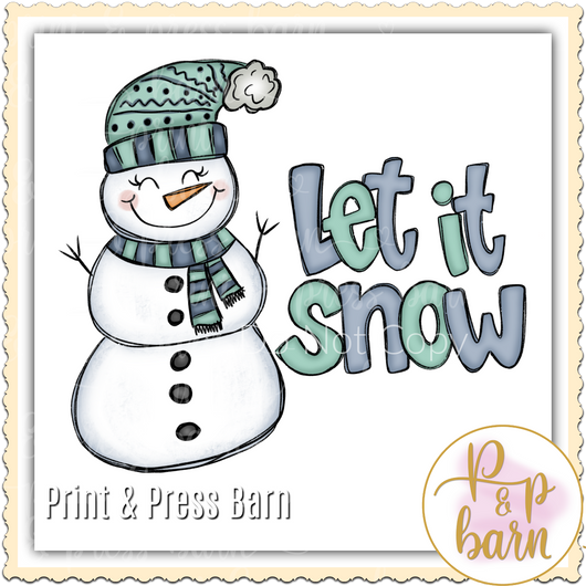Let it Snow snowman 102