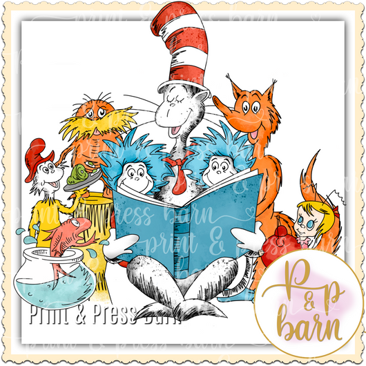 Suess Character Collage