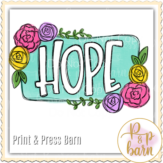 HOPE Flower Frame
