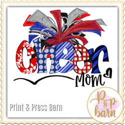 Cheer Mom- Red and Blue