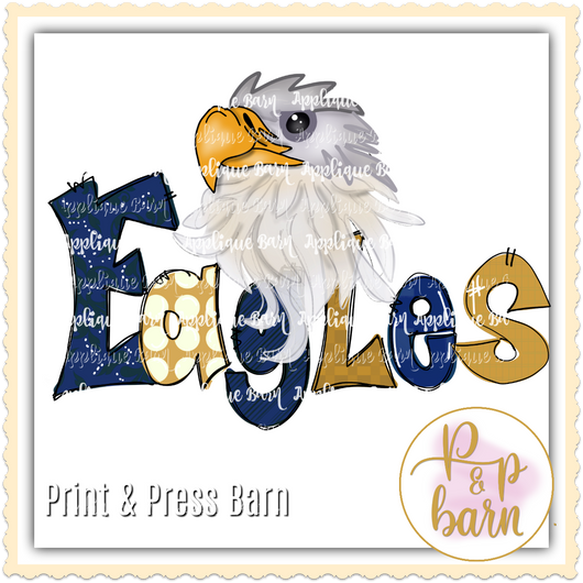 Eagles- Gold and Navy