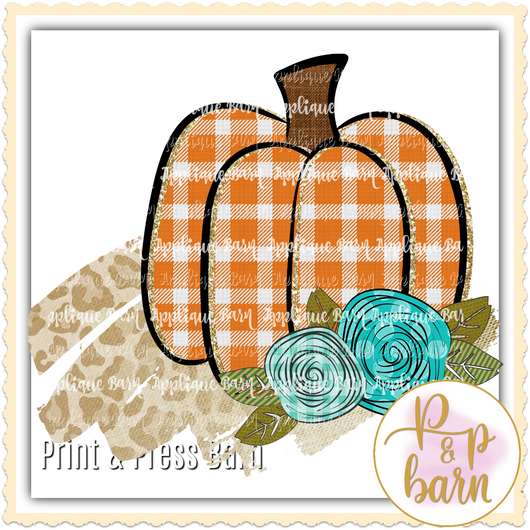 Gingham Pumpkin- Orange