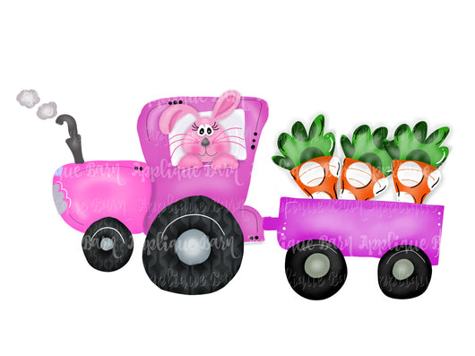 Easter Tractor- Pink