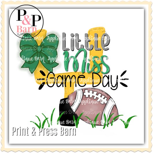 Little Miss Game Day- Green
