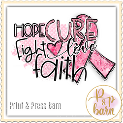 Faith Cure Breast Cancer Ribbon