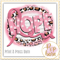 Hope Breast Cancer Ribbon