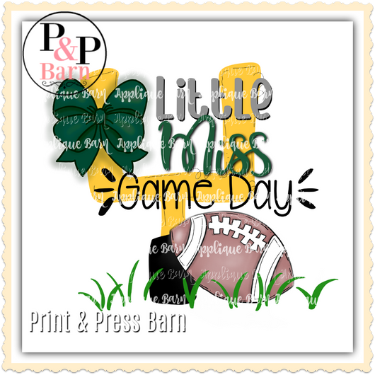 Little Miss Game Day- Hunter Green