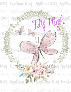 Butterfly Frame- Fly High