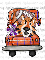 Tiger Mascot Sublimation Design- Clemson Sublimation file- watercolor Png- Sublimation design- PNG- Transfer design- HTV- Tiger Football HTV