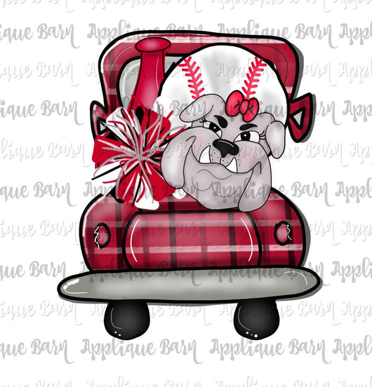 Girl Bulldog Baseball Truck