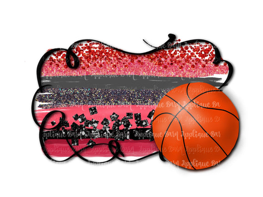 Red Black Basketball Frame