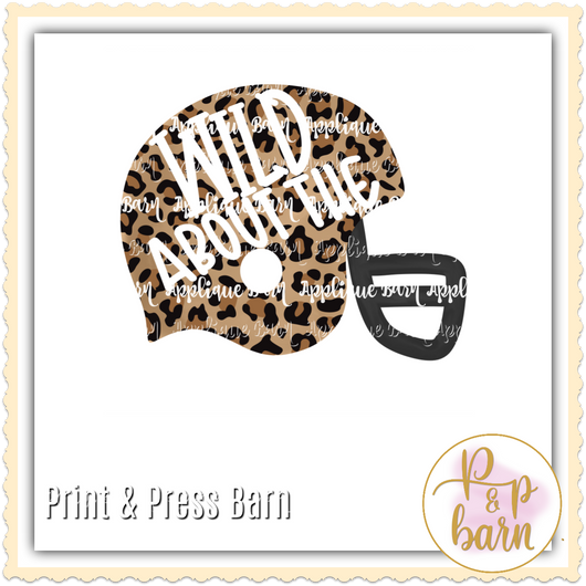 Leopard Football Helmet