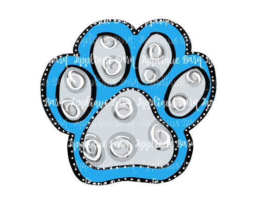 Paw Mascot-light blue