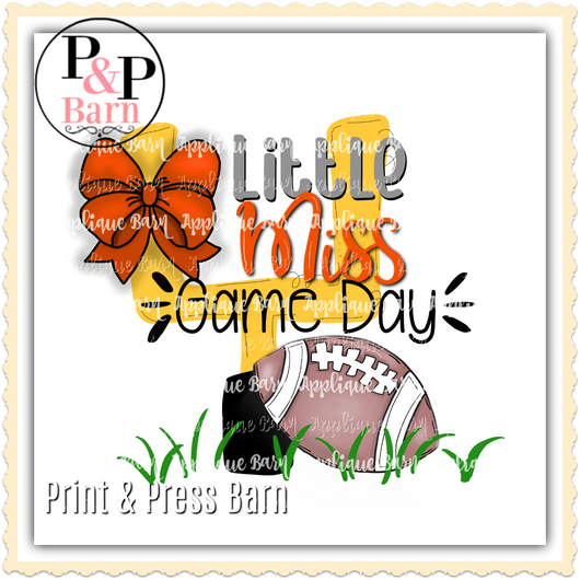Little Miss Game Day- Orange