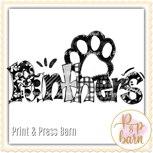 Panther Paw- Black and White