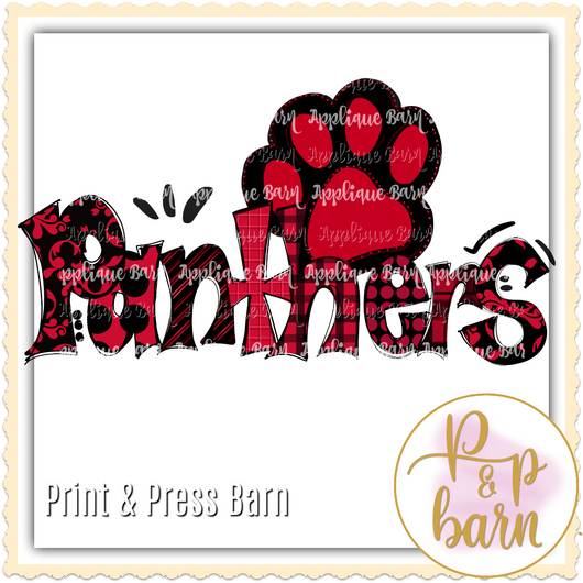 Panthers Paw- Red