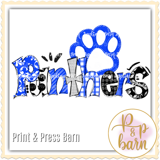 Panthers Paw- Blue