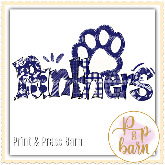 Panthers Paw- Navy