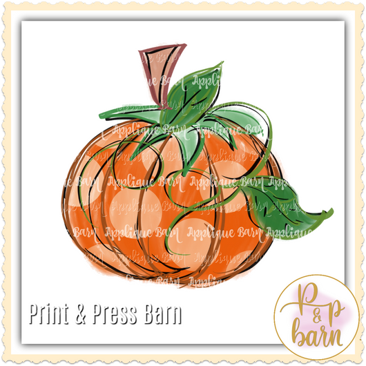 Sketch Pumpkin Polka Dot