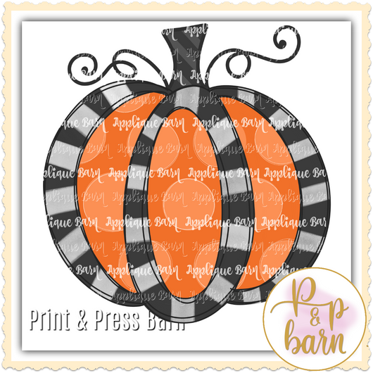 Halloween Pumpkin Loop Black