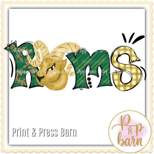 Rams- Green and gold